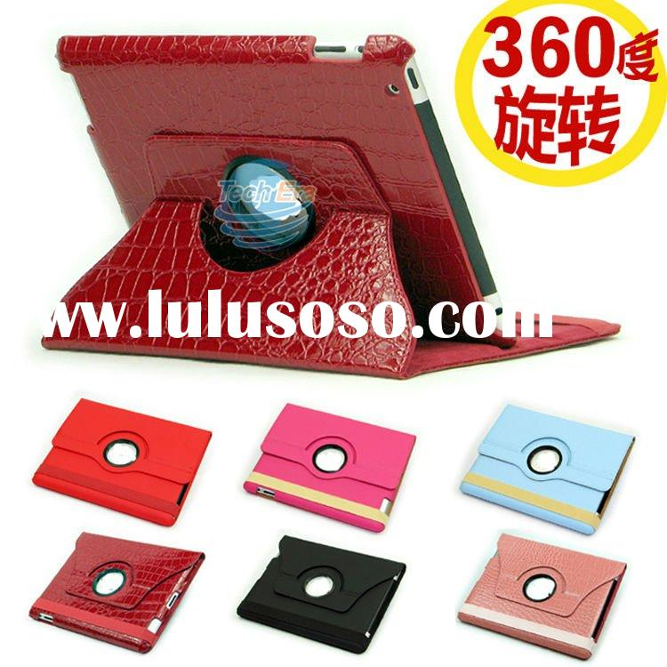 New design,360 degree rotatable case for iPad2, Smart Leather Cover Case for Apple iPad 2, Hot Selli