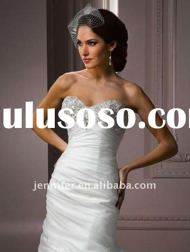 New style sweetheart A-line beaded formal wedding dresses 2012 ( hs293)