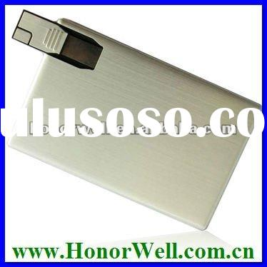 OEM Slim Metal NameCard USB Flash Drive for Business Promotion