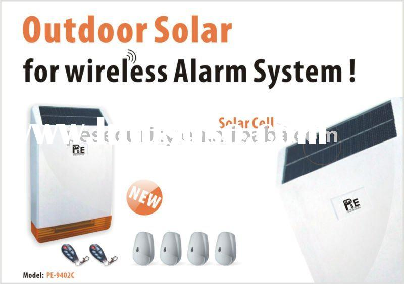 Outdoor Solar for Wireless Alarm System / Sound and Light Siren