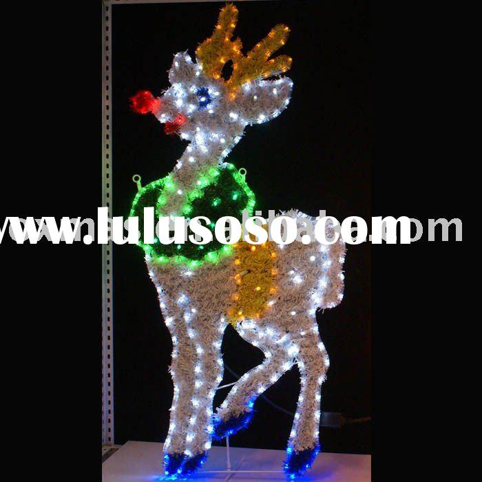 PVC &light rope deer solid for christmas outdoor light