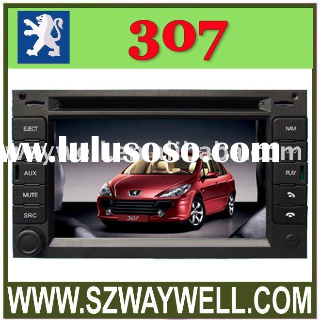 Peugeot 307 Car DVD GPS Navigation Bluetooth Radio IPOD Touch Screen Video Audio Player with CANBUS