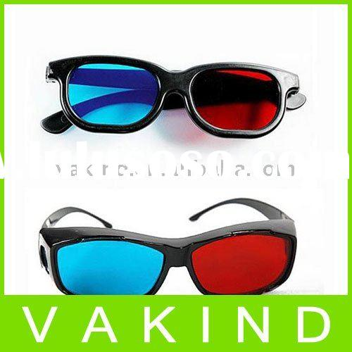 Plastic Framed Red BlueCyan Anaglyph 3D 3D Glasses