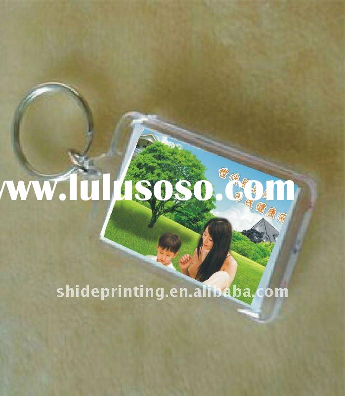 Plastic Photo Insert Key Chain