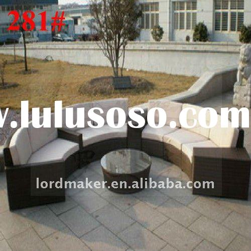Plastic outdoor furniture of aluminium wicker outdoor furniture sofa set (281#)
