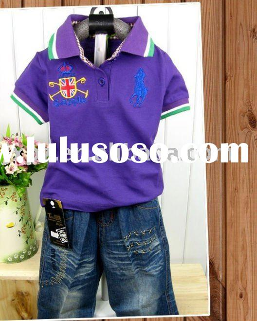 Polo T Shirt for Children,Short Sleeve
