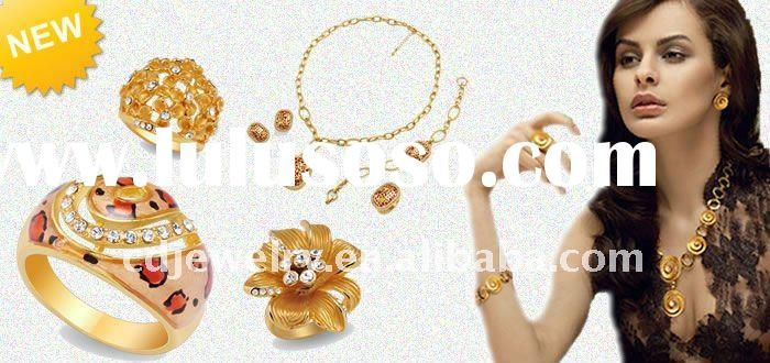 Produces wholesale 22k gold plated jewelry and rhodium plated jewelry.
