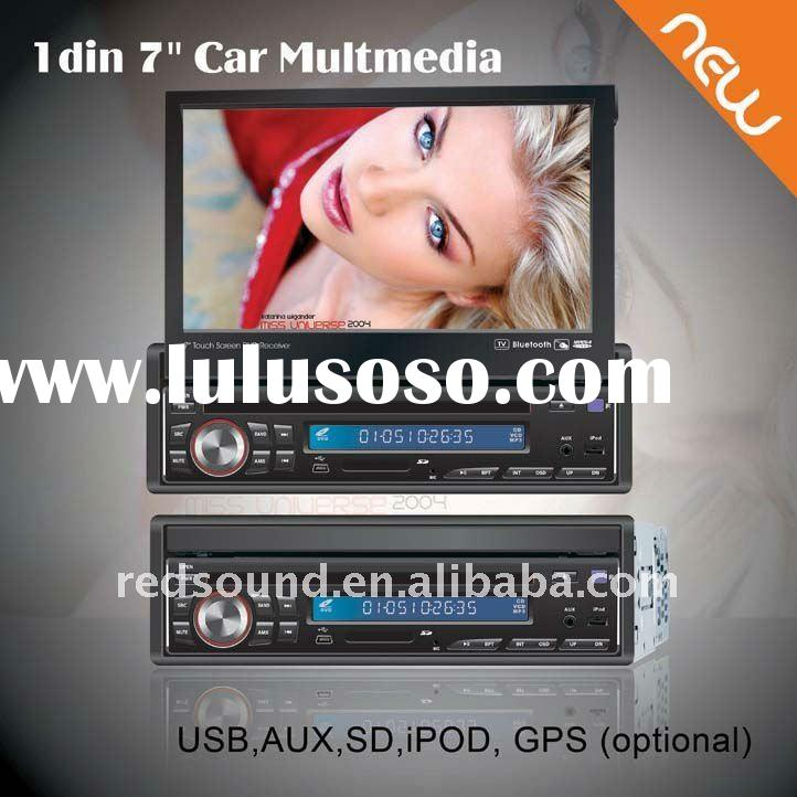 RD-7310 1 din 7 inch car dvd player with USB SD TV BLUETOOTH TOUCH SCREEN GPS