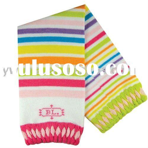 Rainbow stripes Knitted Leg Warmers for Children