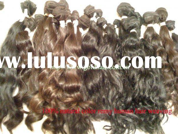 Raw Hair - 100% Natural Color Remy Brazilian Human Hair Weaving / Machine Weft Hair