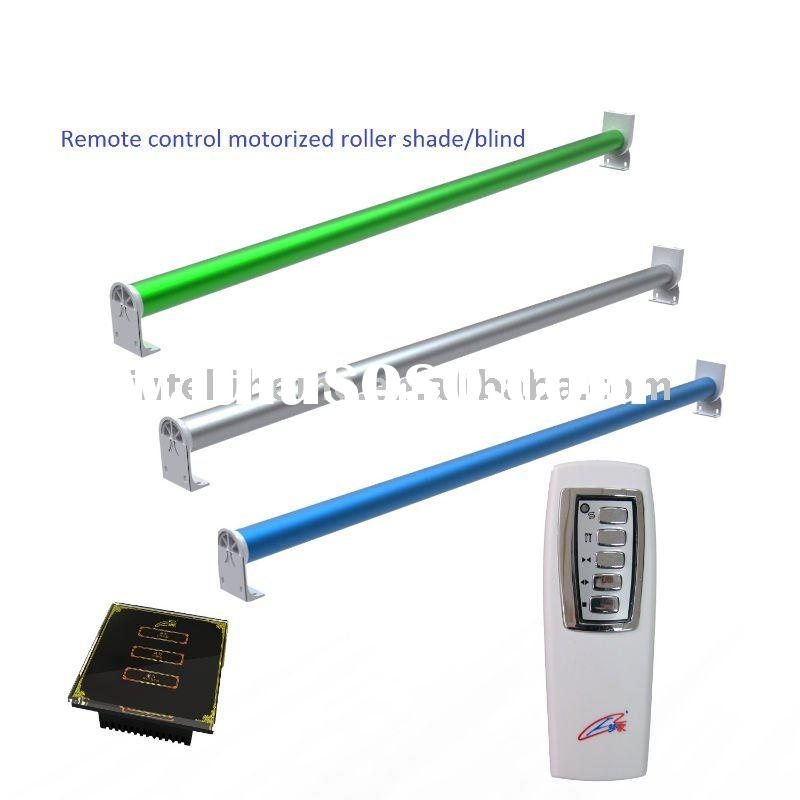 Remote control motorized roller shade for built window