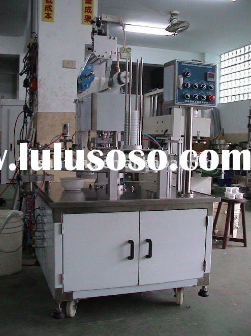 Rotary yogurt cup filling & sealing machine (for roll foil)