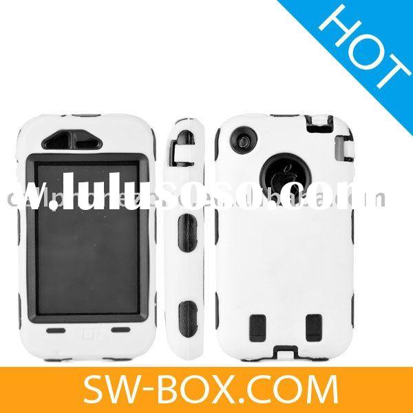 Rugged Hard Plastic Case for Apple iPhone 3GS iPhone 3G (White) /case for iphone