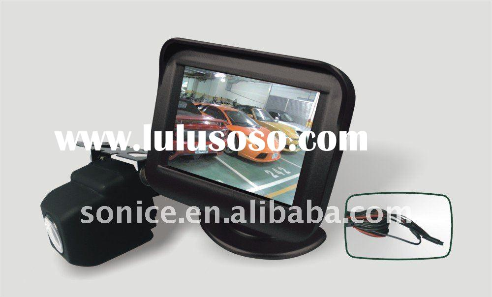 "SJ-358H:3.5"" rearview lcd monitor Wireless rearview camera with reverse car parking sensor"