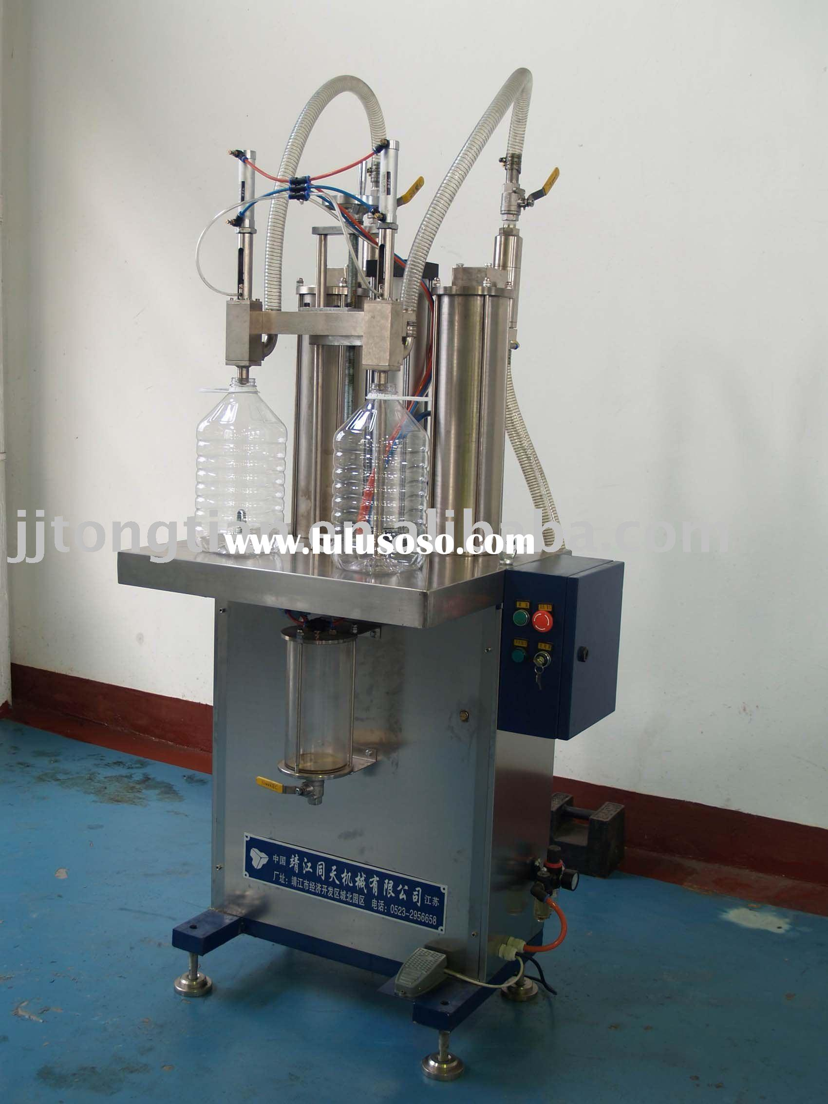 Semi-automatic PET bottle filling machine