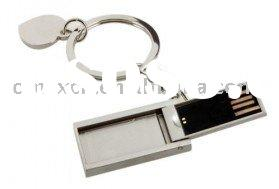 Silver I Love You Key Ring Charm Jewelry USB Drive