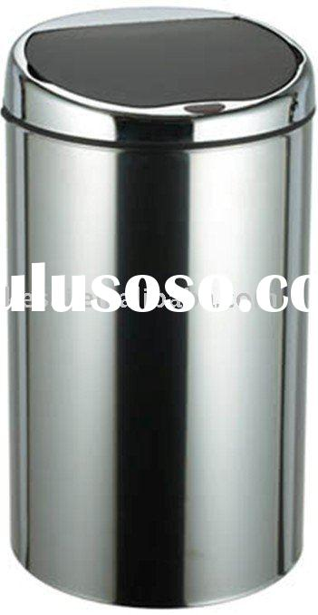 Stainless Steel Sensor Trash Can , Touchless Dust Bin , Automatic Waste Bin