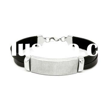 Stainless steel magnetic clasp with silicone bracelet