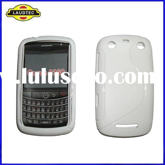 TPU Wave Silicone Gel Skin Case Cover for Blackberry Curve 9360 9350 9370