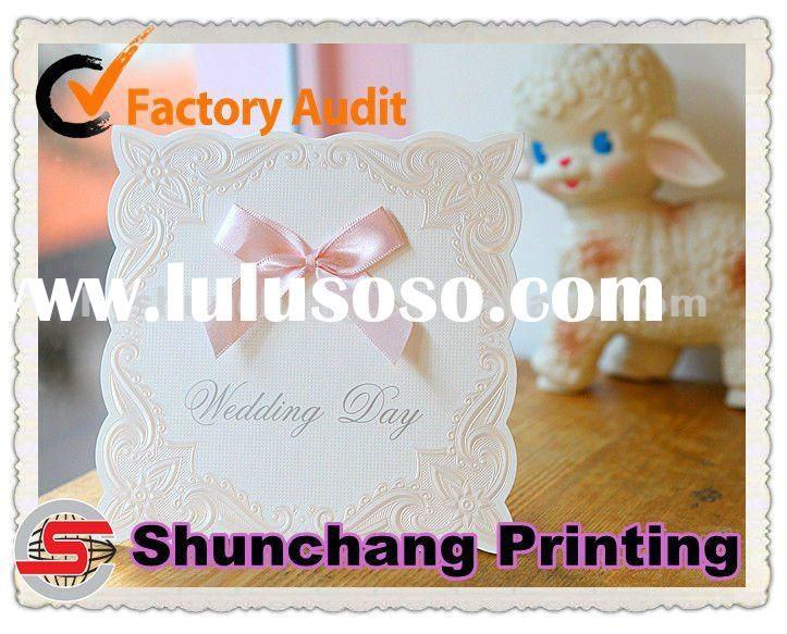 The lovely wedding invitation card printing service