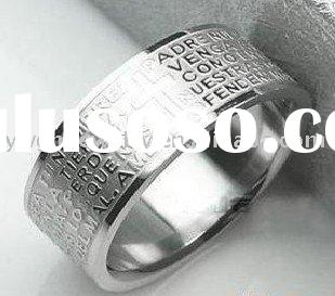 Titanium Bible Men's Stainless Steel Rings Best Seller