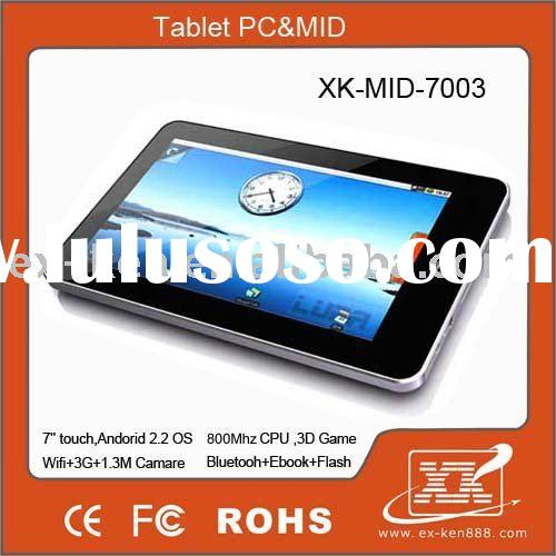 Top quality !!! 7 inches Tablet pc ,wireless laptop , Google Android 2.2,WIFI,3G,Bluetooth,GPS