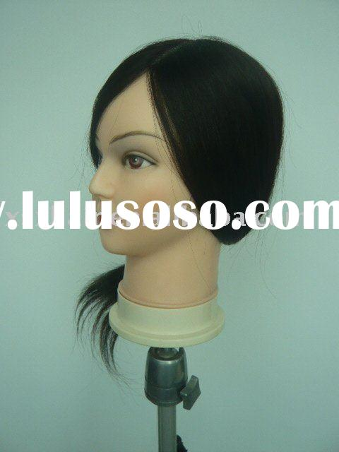 Training mannequin head with 100% chinese human hair for hairdressers