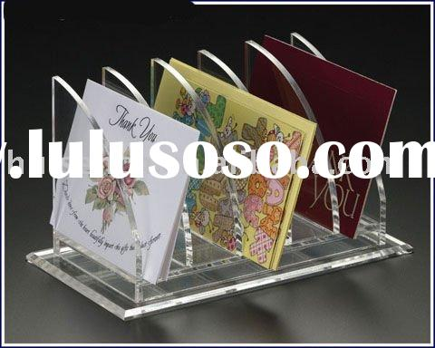 Transparent Acrylic letter holder,Acrylic counter display stand