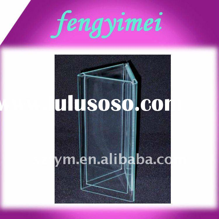 Triangle Acrylic Menu Holder,Lucite Beer Menu ,PMMA Menu Stand