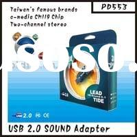 USB To Audio 2.1 Channel (GF-PD553) (usb to audio adapter/irda adapter/bluetooth usb dongle software