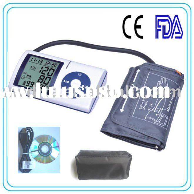 Upper Arm type Electric Blood Pressure Device With PC Link and Software