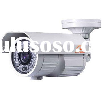 Varifocal weatherproof IR camera with 9-22mm lens and full direction cable management bracket cctv c