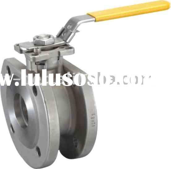 Wafer ball valve with ISO5211 mounting pad