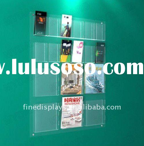 Wall Mounted Acrylic Magazine Holder (HF-A-0183)