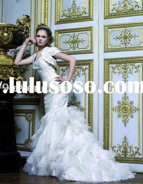 White Mermaid WD230 Wedding Dresses with Sleeves