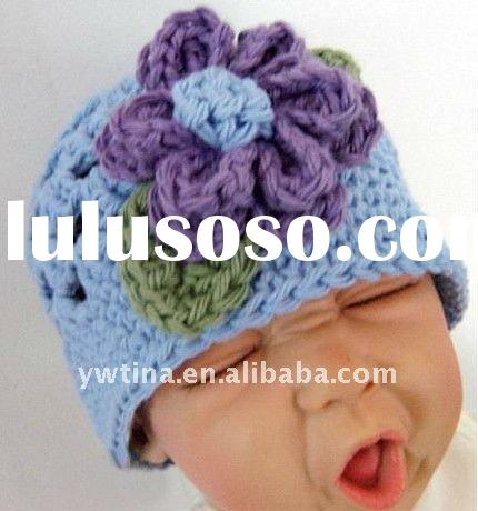 Wholesale 100% Acrylic Handmade Crochet Baby Hat/Knitted Hat/Crochet Kufi Hat