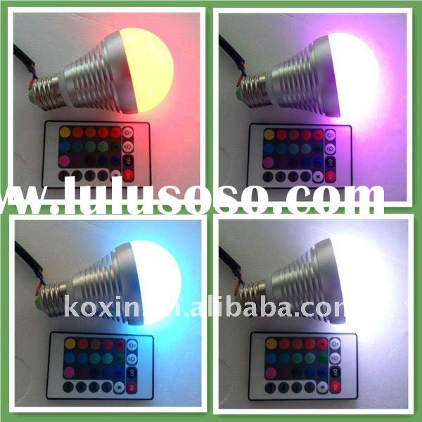 Wholesale E27 color changing led light bulb (with remote controller)