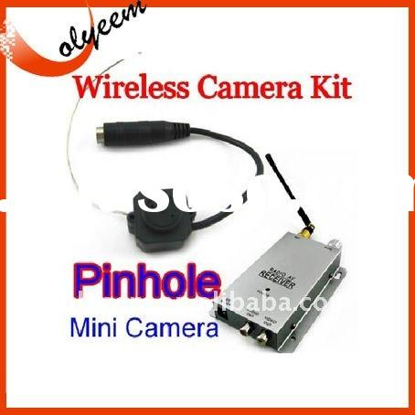 Wireless Nanny Security Cam Pinhole Mini Camera +1.2Ghz receiver ,wireless camera kit