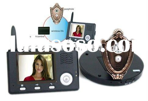 Wireless peephole video intercom door phone with remote unlock