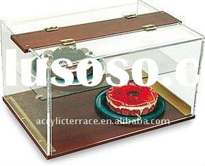 Wood Base Acrylic Pastry Donut Display Case
