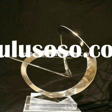 YA4256 Metal abstract sculpture, Metal carving craft, Handicraft home decoration