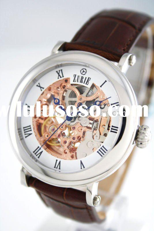 ZUSK-01W Automatic Stainless steel mechanical seagull Skeleton movement mechanicl watch