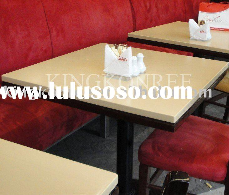 acrylic solid surface table top for fastfood restaurant
