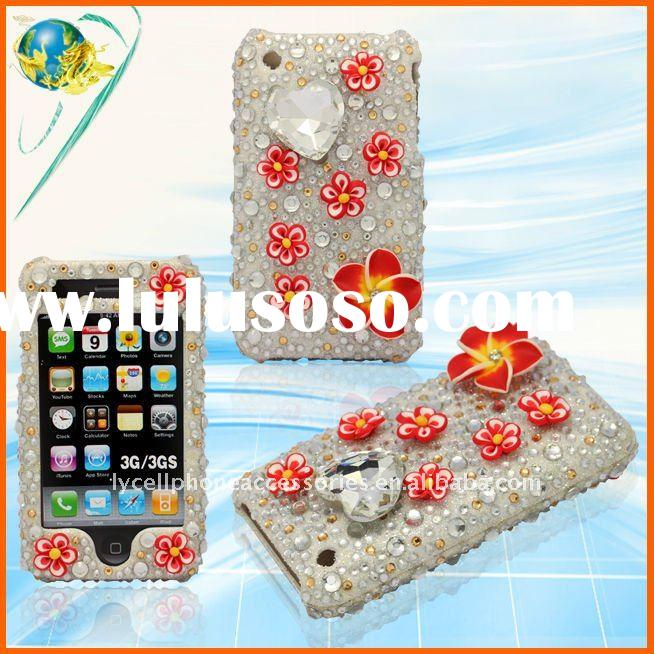 amazing decoration rhinestone phone case for iphone 3GS