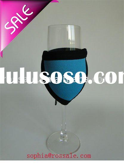 basic style neoprene wine glass holder bag with zipper