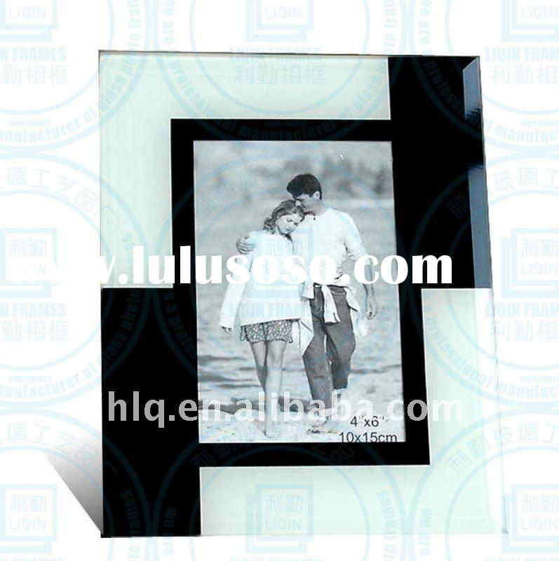 black and white color 4x6 inches glass photo frame picture frame