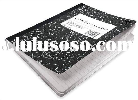 black and white marble composition notebook