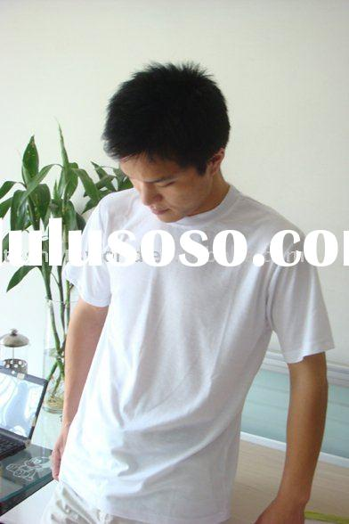 blank white 100% polyester t shirts for sublimation printing