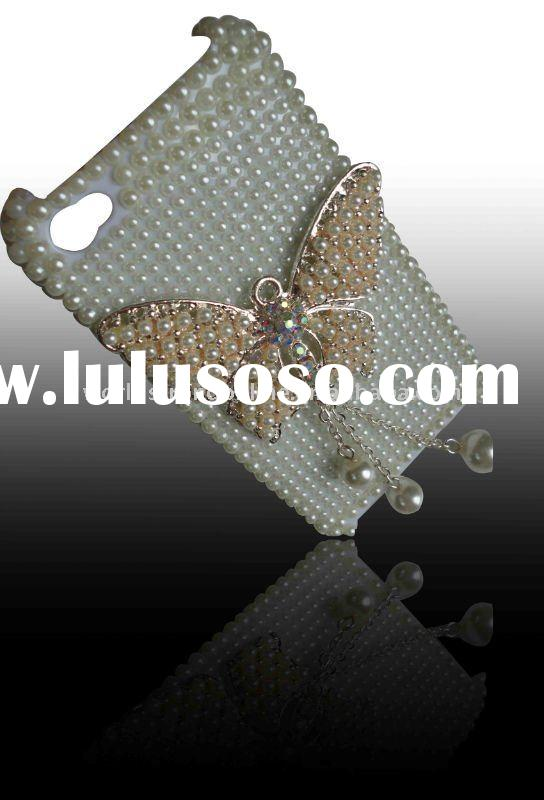 bling rhinestone pearl diamond crystal case cover for iphone 4 4G