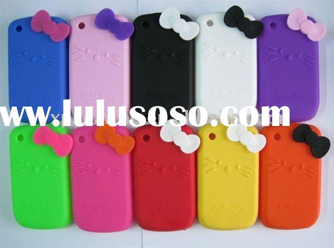 bowknot hello kitty silicone case skin cover for Blackberry curve 8520/8530